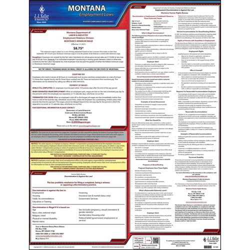 2020 Montana & Federal Labor Law Posters (03993)
