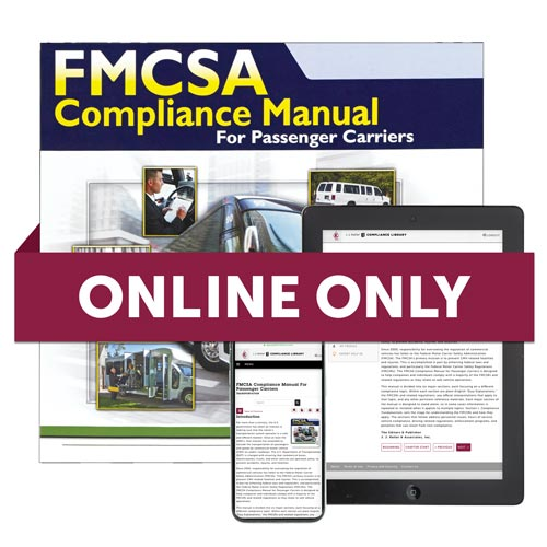 Online FMCSA Compliance Manual For Passenger Carriers (09262)