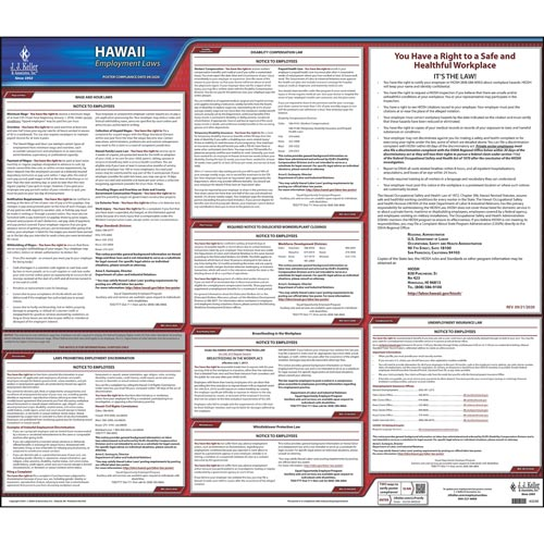 2019 Hawaii & Federal Labor Law Posters (03988)