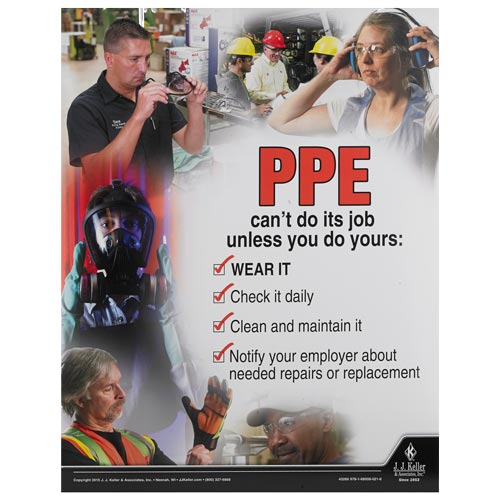 Personal Protective Equipment: Employee Essentials - Awareness Poster (09331)