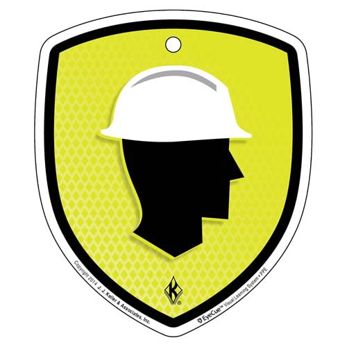EyeCue® Tags - PPE Head Protection Reminder (09049)