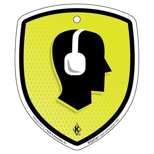 EyeCue® Tags - PPE Hearing Protection Reminder (09051)
