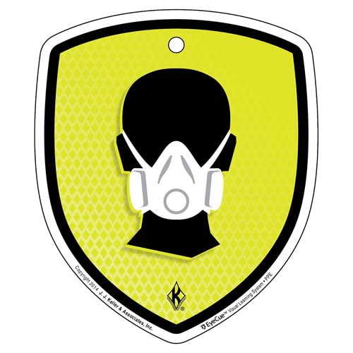 EyeCue® Tags - PPE Respiratory Protection Reminder (09054)
