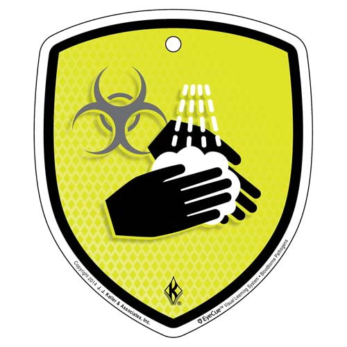 EyeCue® Tags - Bloodborne Pathogens Wash Hands Reminder (09055)
