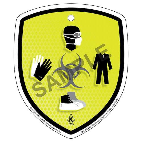 EyeCue® Tags - Bloodborne Pathogens Biohazard PPE Reminder (09058)