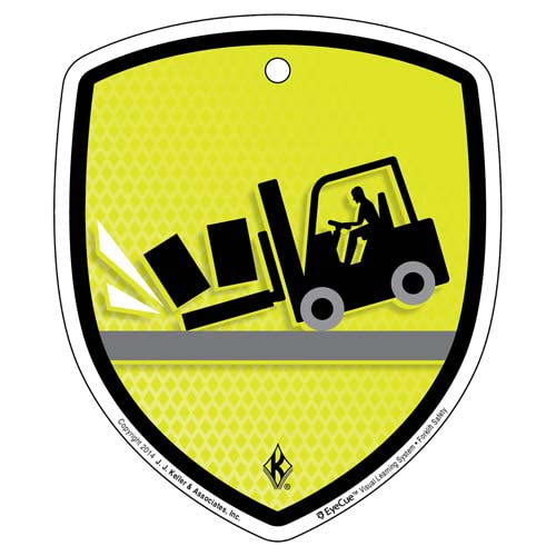 EyeCue® Tags - Forklift Tip Over Hazard Reminder (09061)