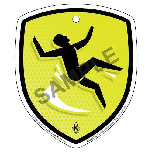 EyeCue® Tags - Slips, Trips & Falls: Slip/Fall Hazard Reminder (09333)