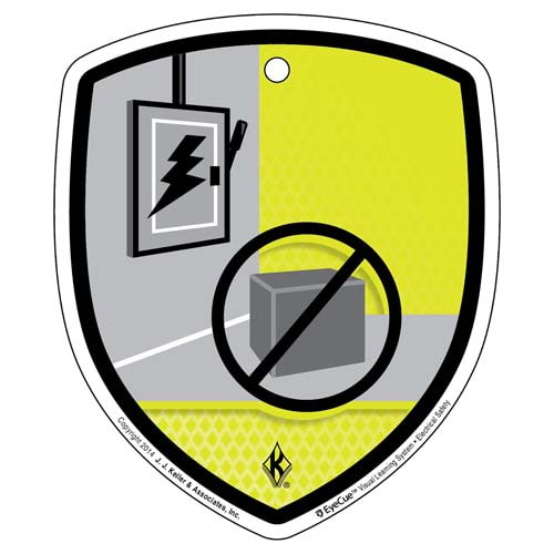 EyeCue® Tags - Electrical Safety Don't Store Materials Here Reminder (09266)