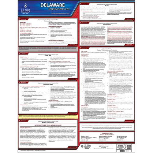 Delaware & Federal Labor Law Posters (03970)