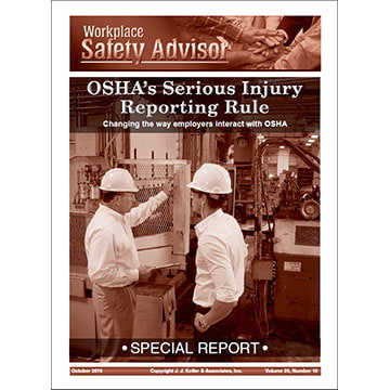 Special Report - OSHA's Serious Injury Reporting Rule (010399)