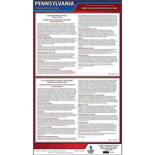 Pennsylvania Right to Know Act Poster (04971)
