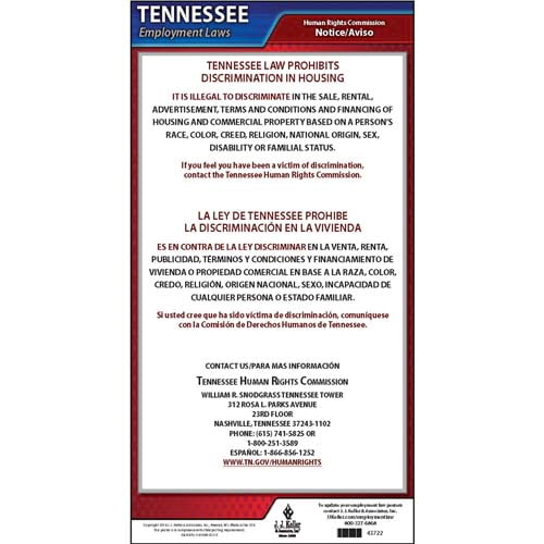 Tennessee Discrimination in Housing Poster (04973)