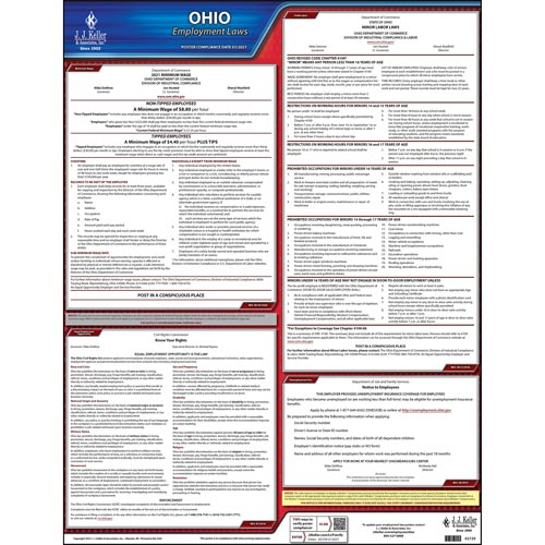 2021 Ohio & Federal Labor Law Posters (03996)