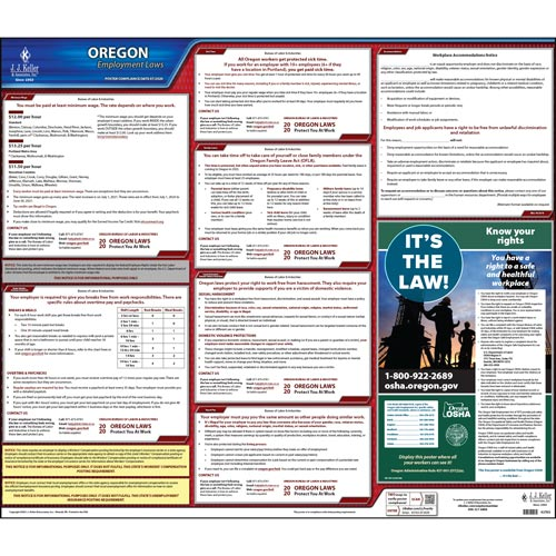 2020 Oregon & Federal Labor Law Posters (03962)