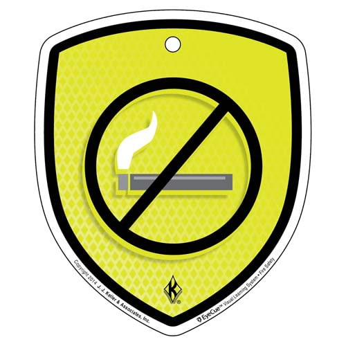 EyeCue® Tags: Fire Safety No Smoking Reminder (09345)
