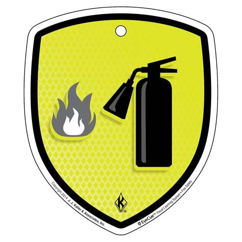 EyeCue® Tags: Fire Safety Fire Extinguisher Reminder (09346)
