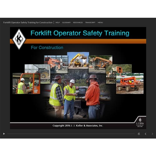 Forklift Operator Safety Training for Construction - Online Course (09340)