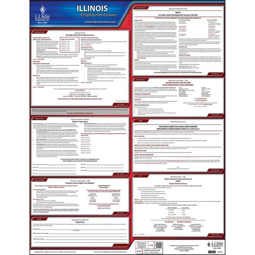 2019 Illinois & Federal Labor Law Posters (03954)
