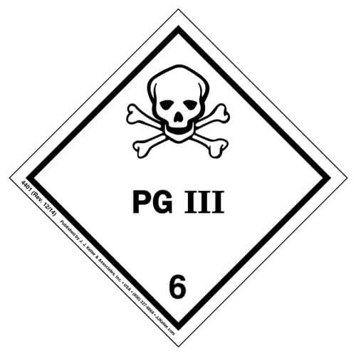 Class 6 Packing Group III Labels (01436)