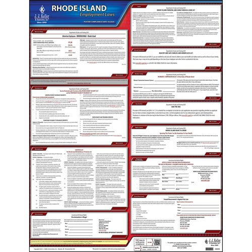 Rhode Island & Federal Labor Law Posters (03998)