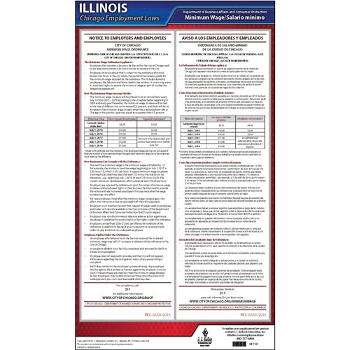 Illinois / Chicago Minimum Wage Poster (09396)