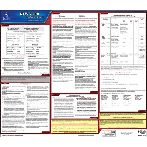 2020 New York & Federal Labor Law Posters (03980)
