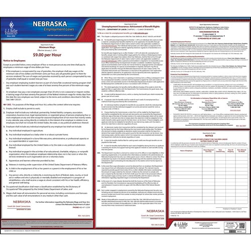 Nebraska & Federal Labor Law Posters (03978)