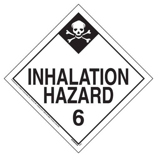 Division 6.1 Inhalation Hazard, Division 6.1 PG III Placard - Worded (09546)