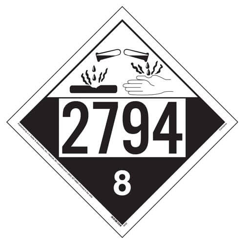 2794 Placard - Class 8 Corrosive (01694)