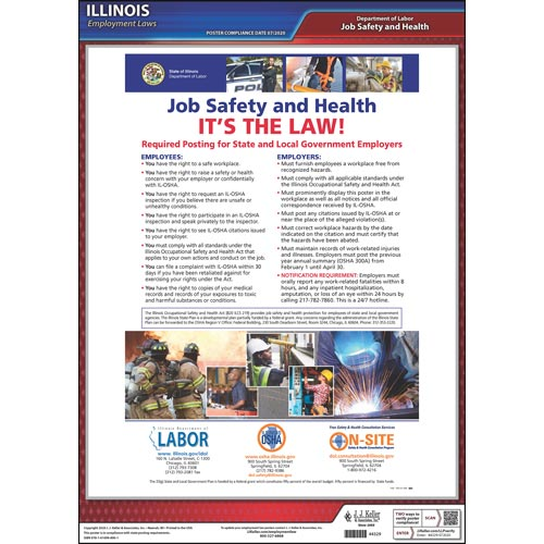 Illinois Workplace Safety & Health for Public Employees Poster (04942)