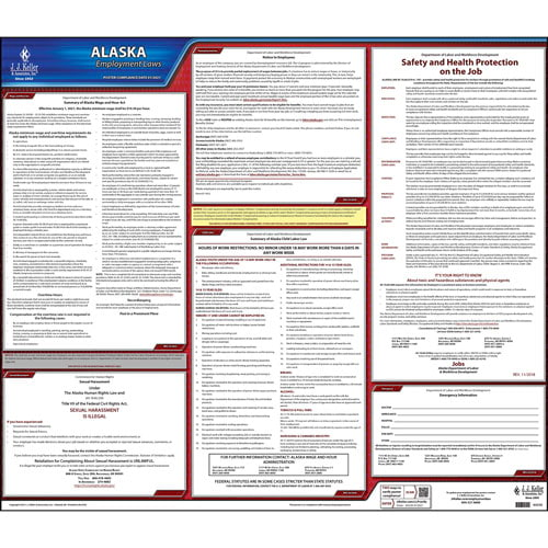 Alaska & Federal Labor Law Posters (03949)