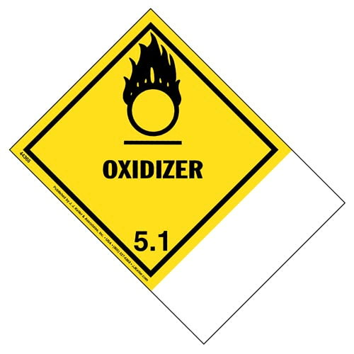 Class 5 Oxidizer - Blank Shipping Name Panel (01728)