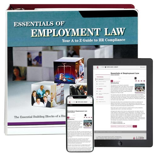 Essentials of Employment Law Manual (05120)