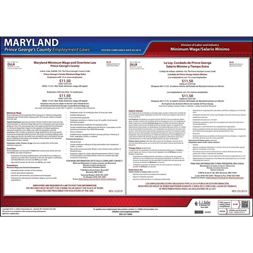 Maryland / Prince George's County Minimum Wage Poster (09445)