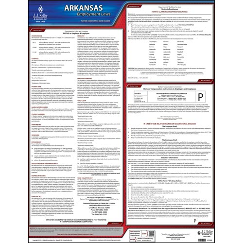 2020 Arkansas & Federal Labor Law Posters (03968)