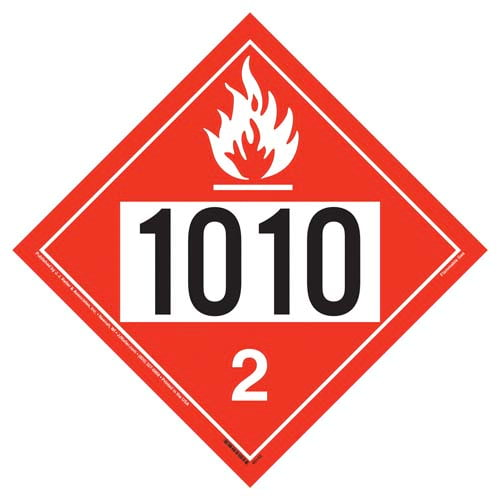 1010 Placard - Division 2.1 Flammable Gas (09467)