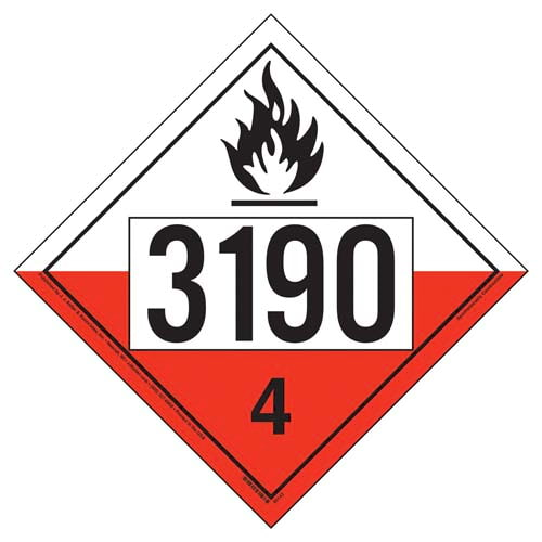 3190 Placard - Division 4.2 Spontaneously Combustible (09487)