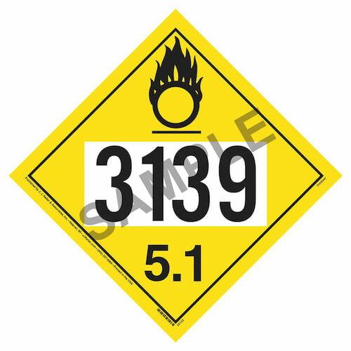 3139 Placard - Division 5.1 Oxidizer (09488)