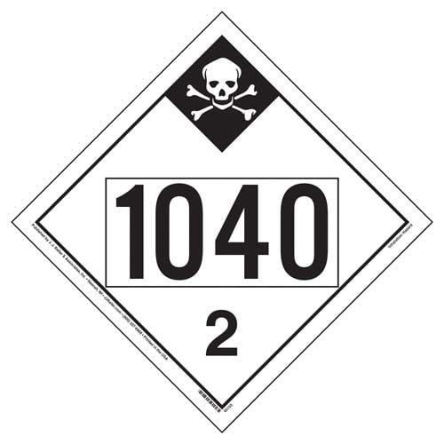 1040 Placard - Division 2.3 Inhalation Hazard (09468)