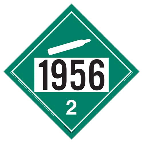 1956 Placard - Division 2.2 Non-Flammable Gas (09470)