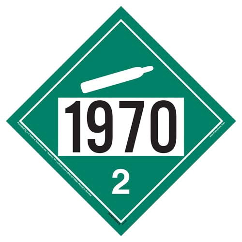 1970 Placard - Division 2.2 Non-Flammable Gas (09471)