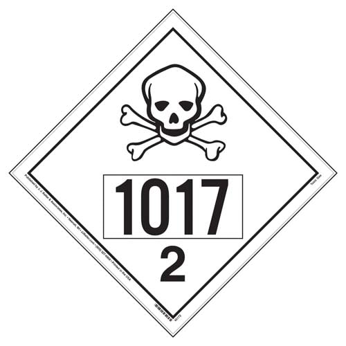 1017 Placard - International Division 2.3 Toxic Gas (09472)