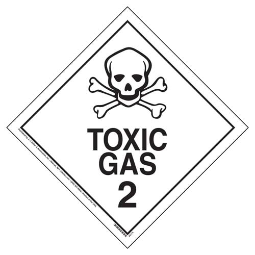 International Division 2.3 Toxic Gas Placard - Worded (09473)