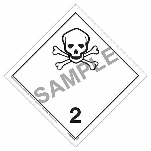 International Dangerous Goods Placard, Toxic Gas (Class 2) (09474)