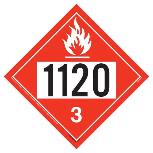 1120 Placard - Class 3 Flammable Liquid (09475)