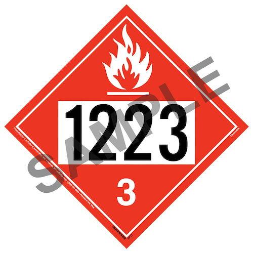 1223 Placard - Class 3 Flammable Liquid (09478)