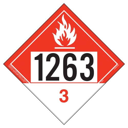 1263 Placard - Class 3 Combustible Liquid (09484)