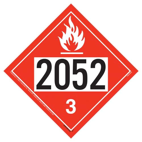 2052 Placard - Class 3 Flammable Liquid (09481)