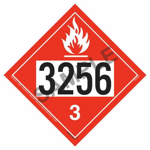 3256 Placard - Class 3 Flammable Liquid (09482)