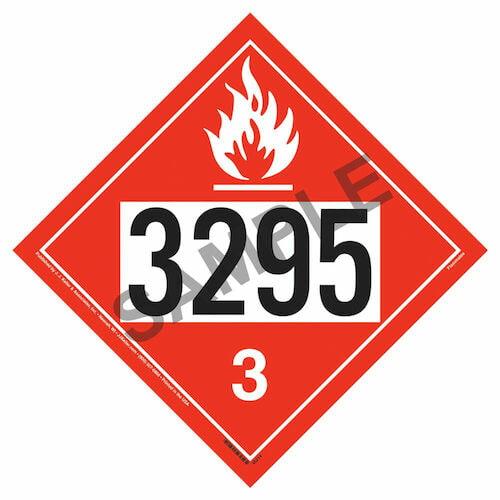 3295 Placard - Class 3 Flammable Liquid (09483)